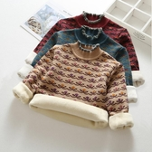 兒童毛衣秋冬新款女童毛衣洋氣兒童套頭加絨加厚高領中大童針織打底衫 限時特惠