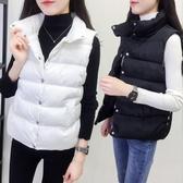 2020春冬新款棉馬甲女寬鬆加厚棉服百搭背心羽絨棉馬甲無袖外套潮