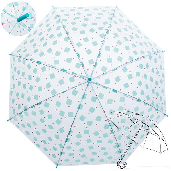 樂嫚妮 自動開傘/直立雨傘-馬卡龍方塊-藍