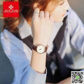 手錶 聚利時女表復古韓版簡約時尚潮流防水手錶女學生真皮帶日歷石英表 印象部落