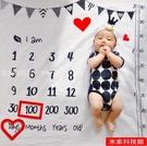 背景布 寶寶拍照背景布嬰兒滿月百天月份攝影道具加厚新生兒拍照毯背景毯 米家