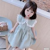 格子女童連身裙洋裝韓版翻領公主裙【奇趣小屋】