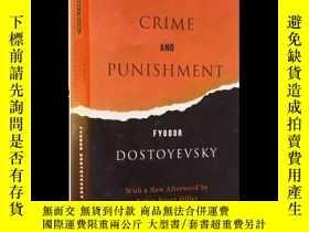 二手書博民逛書店英文原版罕見Crime and Punishment 罪與罰 英