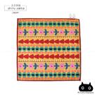 日本毛巾-療癒系俁野溫子兔子刺繡小方巾-花園圖案-玄衣美舖