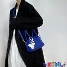 貝殼包 2021小眾設計藍色荔枝紋軟糯質感側背手提貝殼小包包百搭斜背包女寶貝計畫 上新