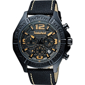 Timberland Men Quartz三眼計時腕錶-黑/45mm TBL.14655JSB/61