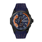 【FILA 斐樂】三眼帥氣賽車風格腕錶-帥氣藍/38-823-002/台灣總代理公司貨享兩年保固