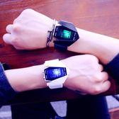 創意時尚潮飛機手錶男女學生電子錶七彩夜光炫酷防水個性LED運動