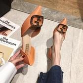 高跟鞋 尖頭高跟鞋女細跟鞋子2020年春季新款單鞋時尚百搭婚鞋春秋 新品上新