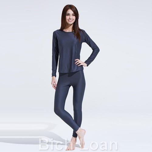 【南紡購物中心】Bich Loan居家外穿兩用衛生衣褲組-深灰