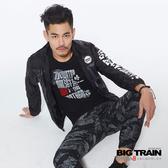 Big Train 迷彩剪接薄外套-男-B30205(領劵再折)