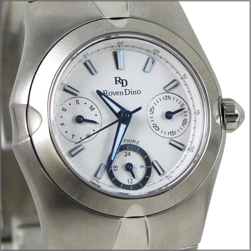 【萬年鐘錶】 Roven Dino 羅梵迪諾 楊丞琳代言 三眼白小 RD9802