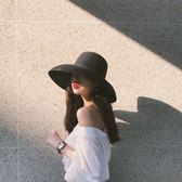 法式風情大檐帽赫本風鐘形草帽優雅帽子女夏遮陽防曬沙灘帽太陽帽 9號潮人館