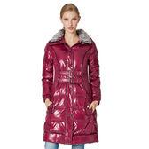 【SAMLIX 山力士】女 長版羽絨外套『紅紫』PX31811 防風│保暖│防潑水│連帽│禦寒│冬季