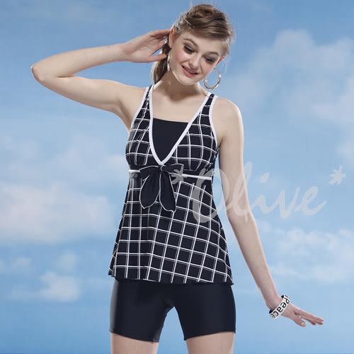 ☆小薇的店☆泳之美品牌【簡約格紋風格】時尚二件式泳裝特價1250元 NO.8836(4L)加大款
