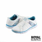 Royal Elastics Zephyr 經典運動鞋-白x水藍變形蟲