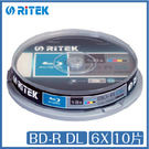 錸德 Ritek BD-R DL 6X 10片桶裝 BD 光碟 藍光片