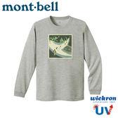【Mont-Bell 日本 男 Wickron Karasawa 涸尺 長袖排汗T恤《炭灰》】1114408/排汗衣/抗UV