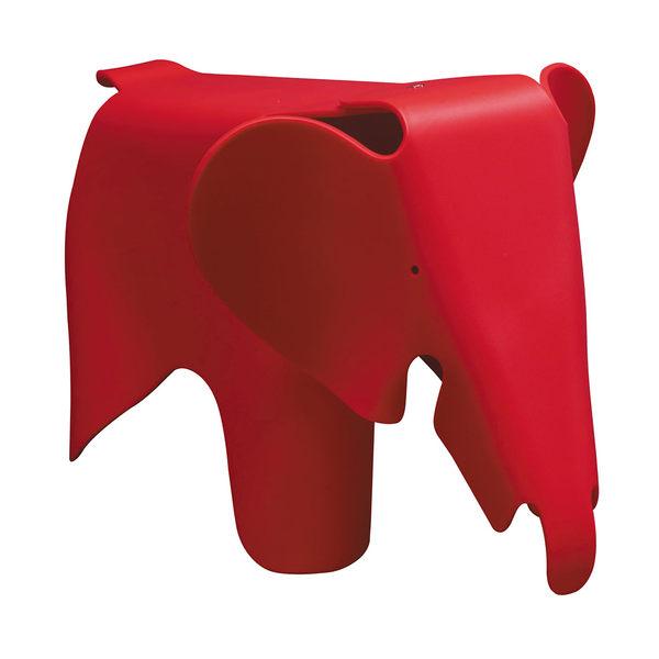 【森可家居】紅色可愛大象椅 7JX160-6