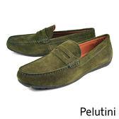 【Pelutini】經典質感休閒鞋 墨綠(8339-DGRS)
