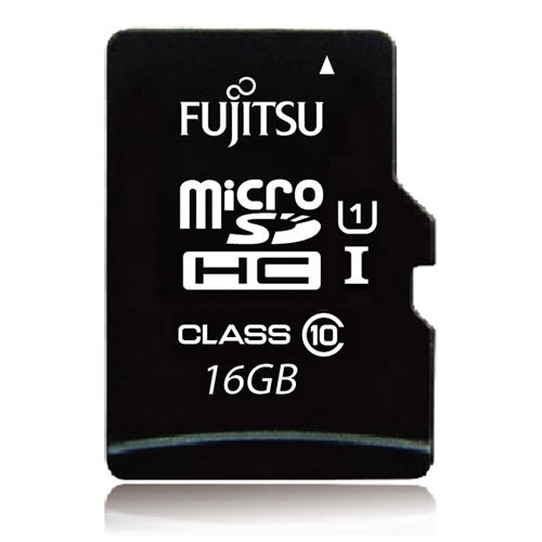 Fujitsu microSDHC UHS-I U1-16GB記憶卡(讀80MB/s) - 含轉卡【愛買】