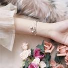 手鐲 電鍍歐幣鈴鐺手鐲 韓版小清新氣質百搭波浪紋可調節手飾 元旦狂歡購