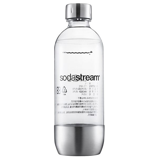 Sodastream氣泡水機專用金屬寶特瓶1L(2入)