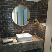 浴室鏡 壁掛鏡子 北歐浴室鏡圓鏡化妝鏡衛生間壁掛梳妝鏡【直徑30公分】 店慶降價