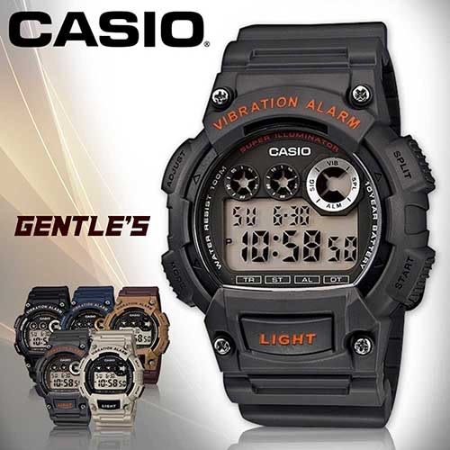CASIO手錶專賣店 卡西歐 W-735H-8A 男錶 震動 電子數字 運動型 壓克力玻璃鏡面 橡膠錶帶