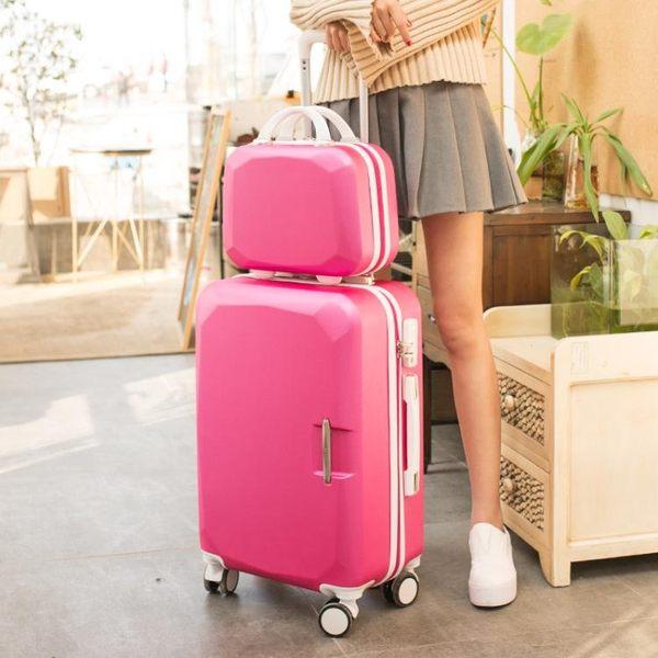 行李箱 時尚硬箱萬向輪密碼旅行箱行李箱拉桿箱20寸 新春喜迎好年