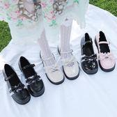 日系lolita大頭娃娃鞋森女學院風學生軟妹蝴蝶結洛麗塔平底小皮鞋 米娜小鋪