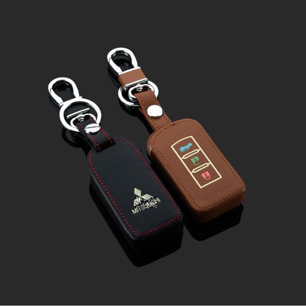 MITSUBISHI ASX PAJERO GALANT Outlander LANCER 汽車 鑰匙 皮套 鑰匙包 夜光