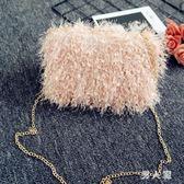 手提包新款仙女晚宴包手拿包鏈條包小方包韓版時尚手提包 zm3428『男人範』