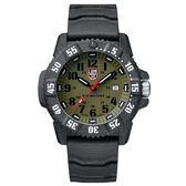 LUMINOX 雷明時 CARBON SEAL 3800碳纖維超級海豹系列腕錶-橄欖綠x黑時標/46mm A3813