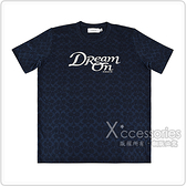 COACH專櫃款 DREAM刺繡LOGO刺繡印花設計純棉圓領短袖T恤(海軍藍)