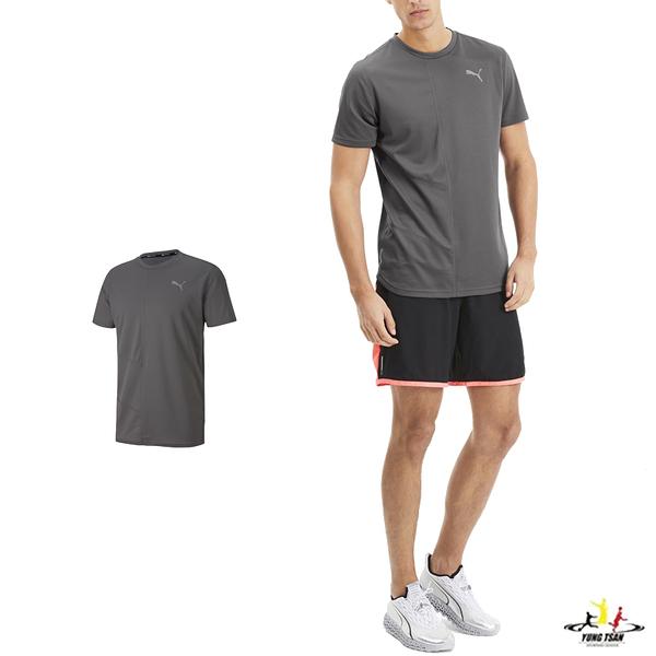 Puma Ignite 灰色 男 短袖 運動上衣 訓練系列 短T 排汗 透氣 運動 反光 logo 短袖 51726829
