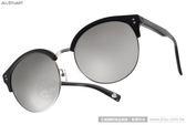 JILL STUART 太陽眼鏡 JS58005 C01A (黑-白水銀) 摩登經典圓眉框款 # 金橘眼鏡