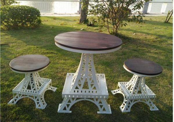 《Chair Empire》巴黎鐵塔 復古升降吧台桌椅 圓餐桌椅 作舊 美式復古風格 LOFT