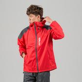 [安信騎士] 犀力 兩件式 風雨衣 紅 雨衣 彈性布袖口專利