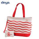 deya 海洋水手托特包(大)-水手紅 MIT台灣製造 附隨身零錢包