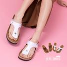 [Here Shoes]涼拖鞋-MIT台灣製美式夾腳厚底4.5cm度假沙灘拖鞋─ASF901