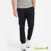 彈性束口長褲01黑-bossini男裝
