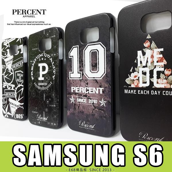 E68精品館 三星 SAMSUNG S6 台灣品牌 PERCENT 彩繪設計 保護殼 硬殼 保護套 手機殼 背蓋 G920