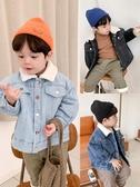 男童保暖外套-棉小班童裝男童冬裝牛仔外套時尚韓版兒童夾棉加厚休閒夾克潮 喵喵物語