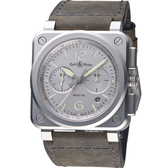 Bell & Ross飛鷹戰士自動計時機械腕錶 BR0394-GR-ST/SCA
