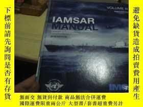 二手書博民逛書店IAMSAR罕見MANUAL VOLUME IIIY25254