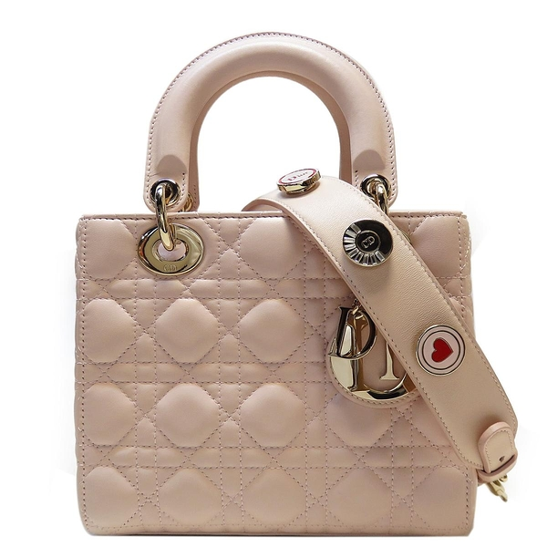 Dior 迪奧 My ABCDior系列粉色羊皮手提肩背2way包 黛妃包 Lady Dior Bag【BRAND OFF】