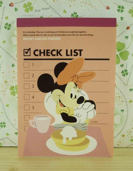 【震撼精品百貨】Micky Mouse_米奇/米妮 ~便條本/筆記本-米妮下午茶圖案-粉色底