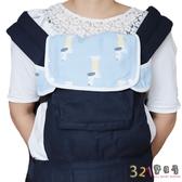 [3件組]背帶六層紗布胸前口水巾咬巾+紗布雙面餵奶巾-321寶貝屋
