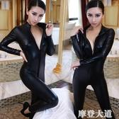 SM另類套裝誘惑女特工制服緊身連體束身漆皮衣女搜查官裝情趣內衣『摩登大道』